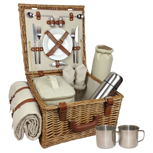 4 Person Picnic Basket Uk : Willow picnic baskets luxury christmas hampers