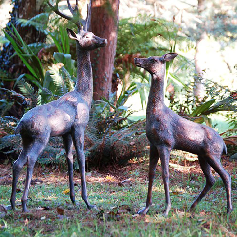 Extra Large Deer Stag Bronze Statues Garden Ornaments