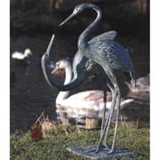 Love Cranes Pair Garden Ornaments