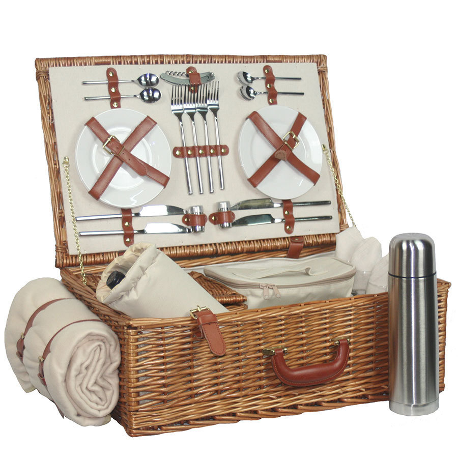 4 Person Picnic Basket Uk : Luxury person hamper uk picnic basket candle