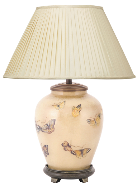 ... Jenny Worrall Chinese Butterfly Gold And Sienna Small Table Lamp ...