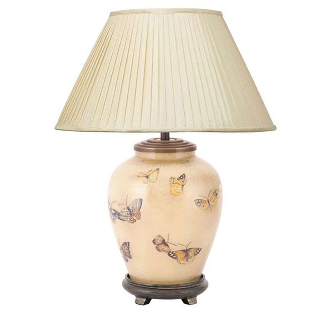 Ceramic Bedside Lamp Aged White Horse