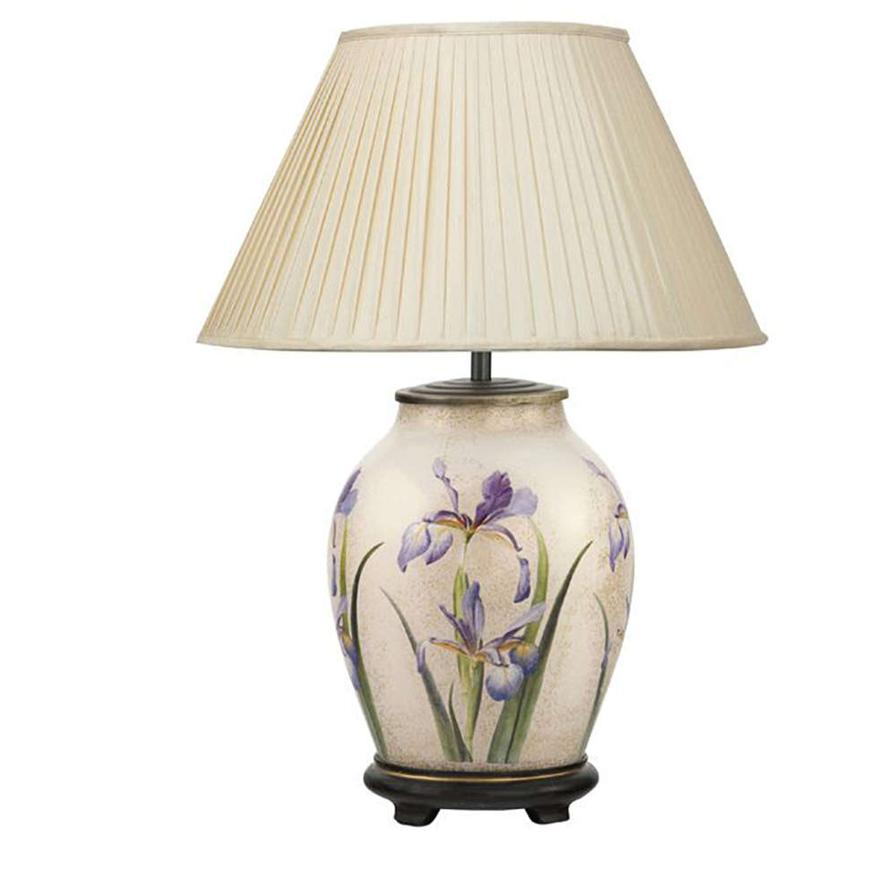 Delicieux Jenny Worrall Purple Iris Oval Table Lamp