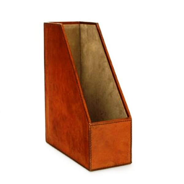 Leather Magazine File Leather Storage Box Candle And Blue