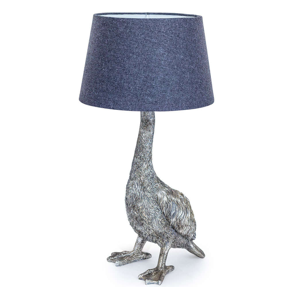 Silvery style goose bird lampfun and quirky lamps candle and blue antique style silver goose table lamp aloadofball Gallery