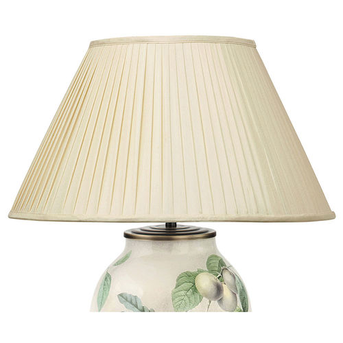 Faux Silk Shade Pleat 16inch Almond