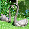 Swans Bronze Garden Ornaments