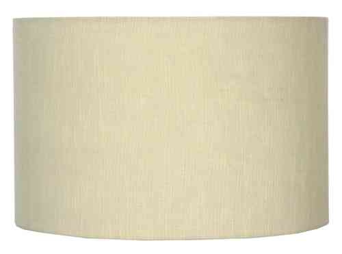 "18"" Linen Lined Drum Vanilla Lamp Shade"