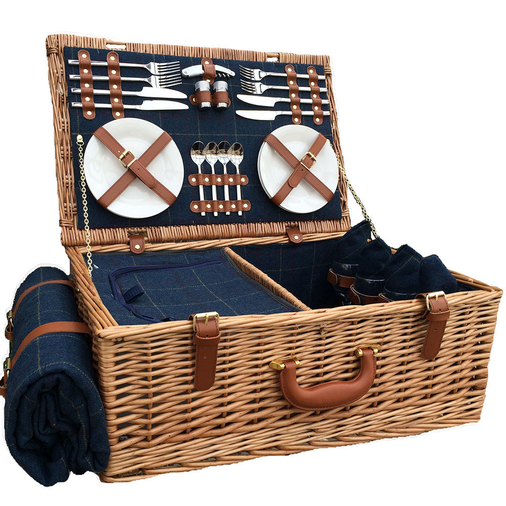 Picnic Basket For 4 Willow Luxury Christmas Hamper