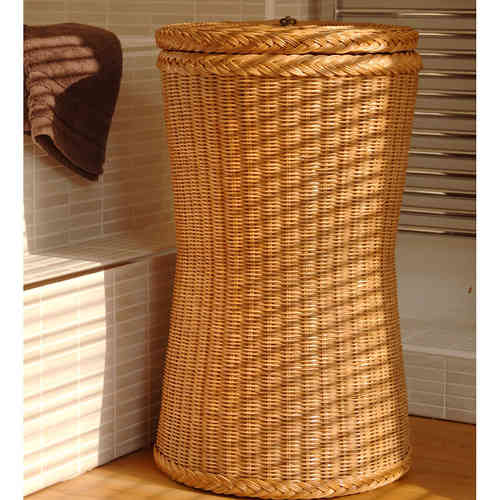 Tall Brown Laundry Basket Candy Brown