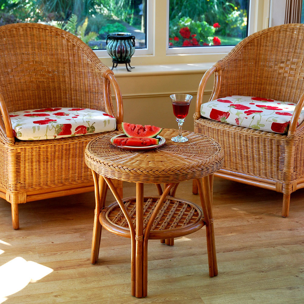 Cane Chairs Wicker Chairs And Table Set Furniture Candle And Blue