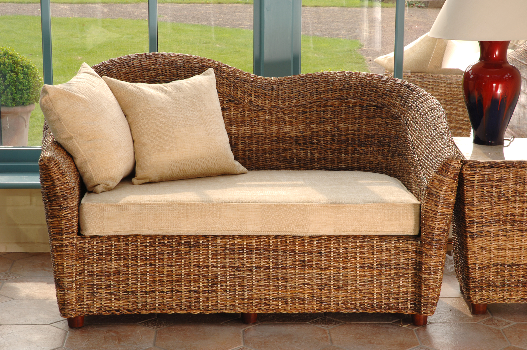 Cane conservatory furniture banana leaf furniture cane for Bamboo furniture uk
