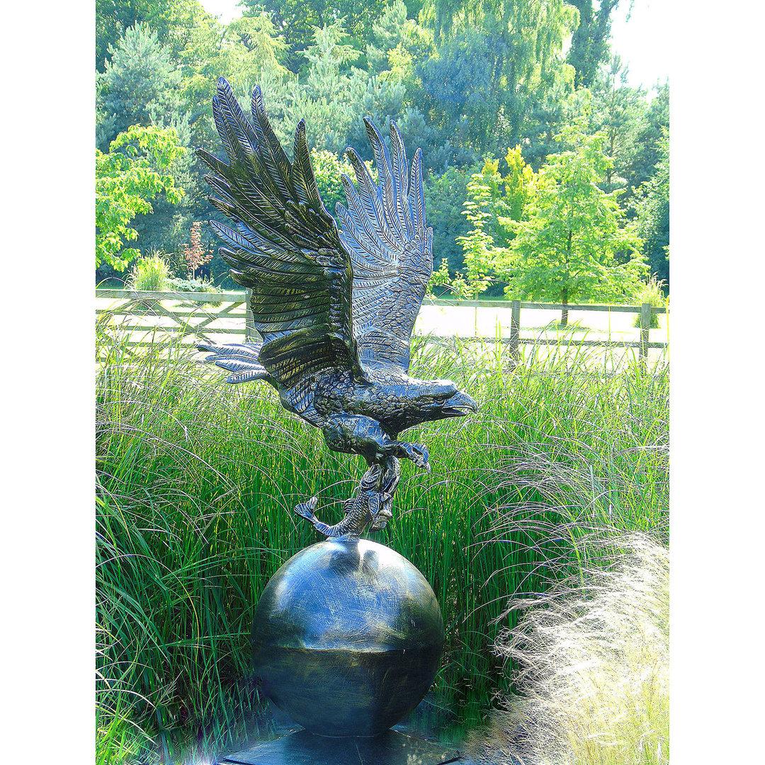 Large Eagle Garden Ornament Metal Garden Sculpture Uk Candle And Blue