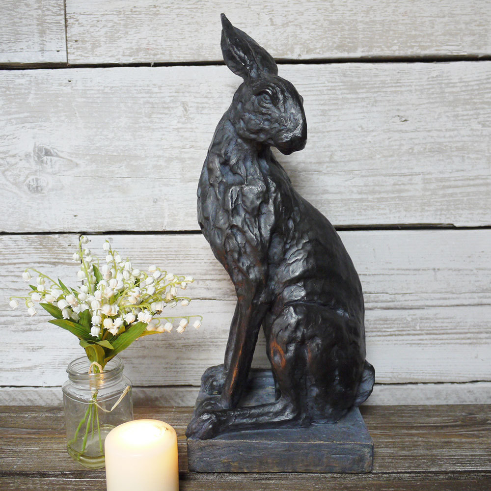 Hare Ornaments Hare Statues Large Hare Ornament Candle