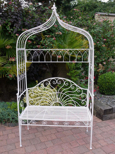 Chris Metal Bench Milk White
