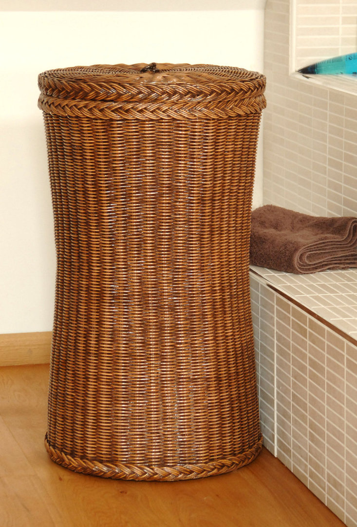 Tall Wicker Laundry Basket|Tall Laundry Basket - Candle ...