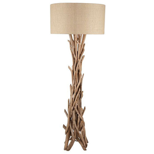 Tall driftwood style floor lamp and shade