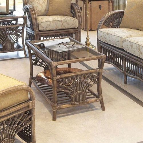 Rattan Conservatory Coffee Table: Cane Conservatory Furniture Sets