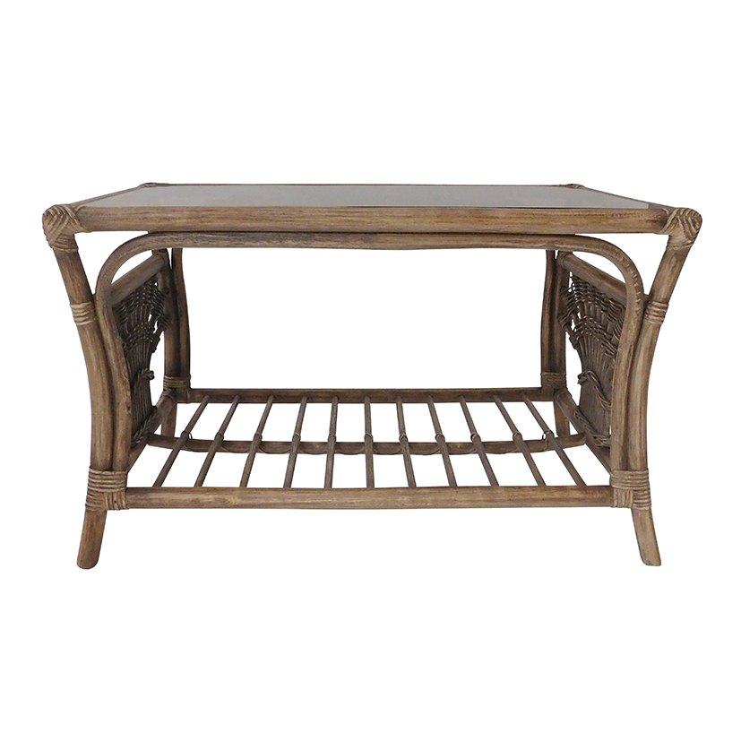 Rattan Conservatory Coffee Table: Small Rattan Table Miami - Candle