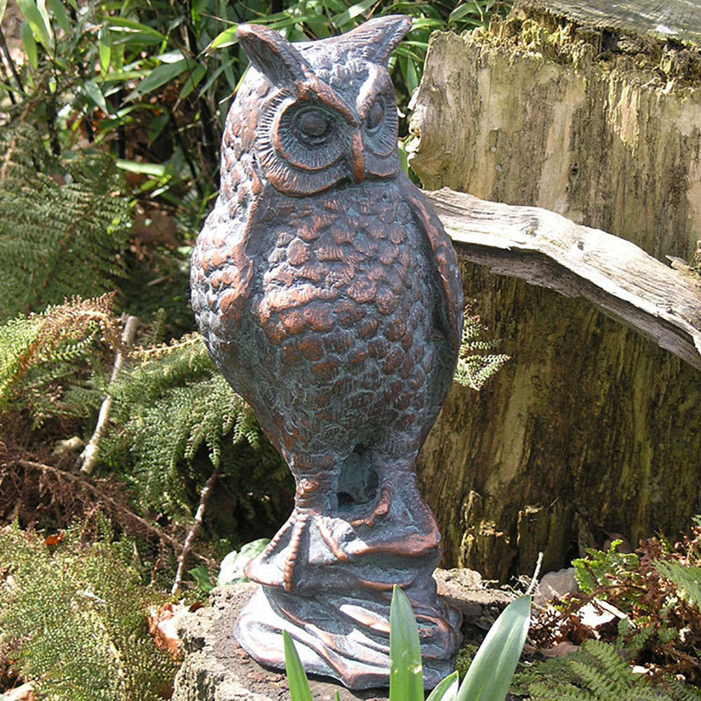 Garden Sculptures Uk Ow Owl Statue Owl Sculpture Candle