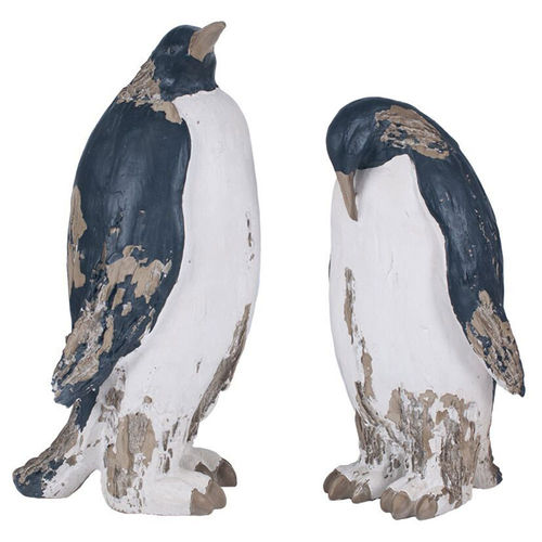 Pair of Decorative Penguin Ornaments