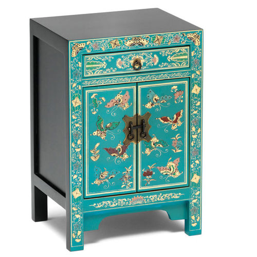 Classic Chinese Style Small Cabinet in Blue