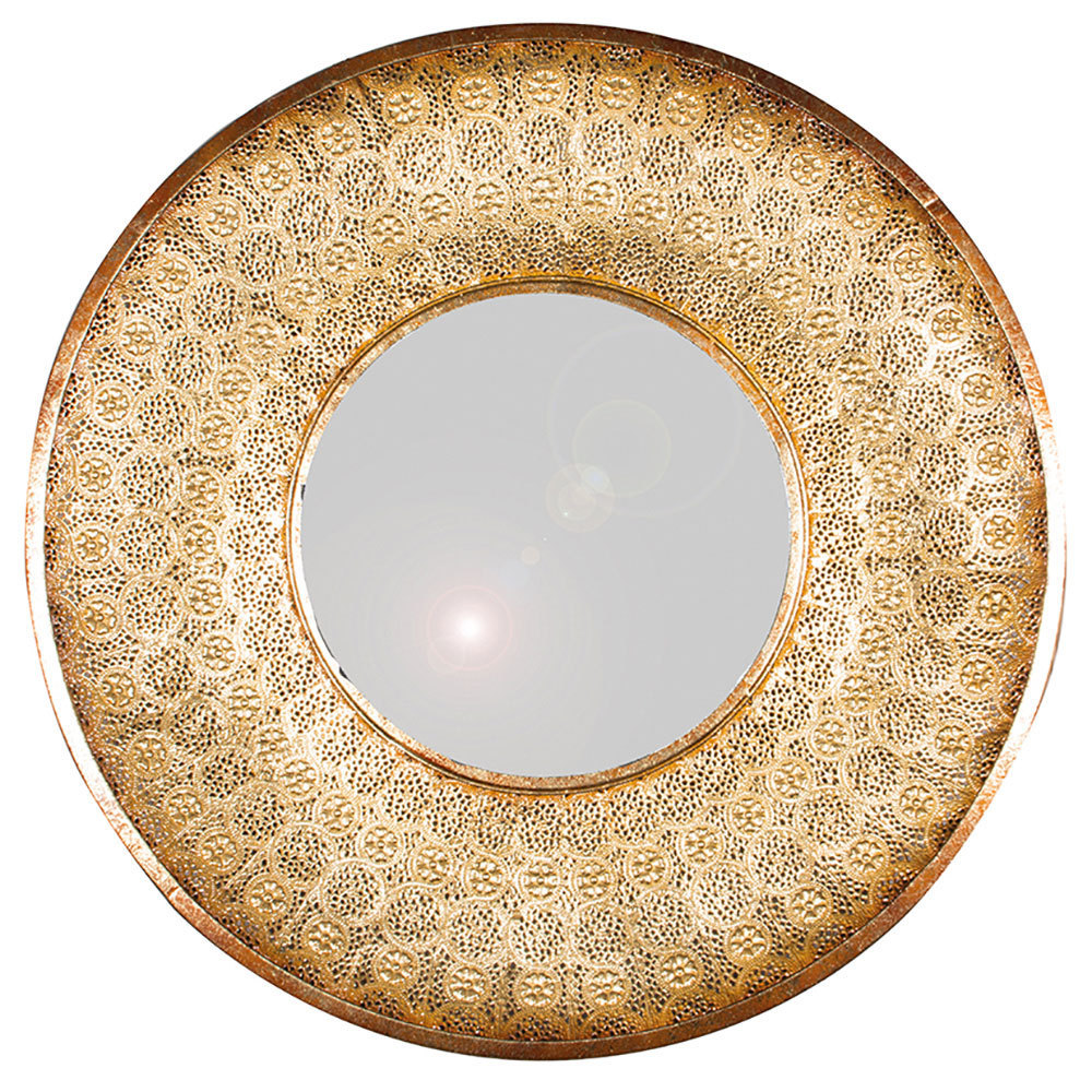 Gold wall hung mirror large gold mirror gold mirror for Large round gold mirror