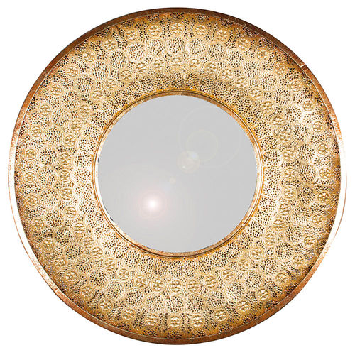 Decorative Gold Metal Style Round Wall Mirror