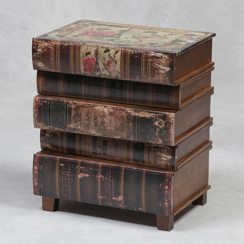 Book Furniture: Books Small Side Table