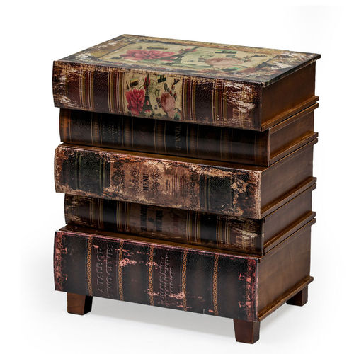 Stacked Books Small Side Table