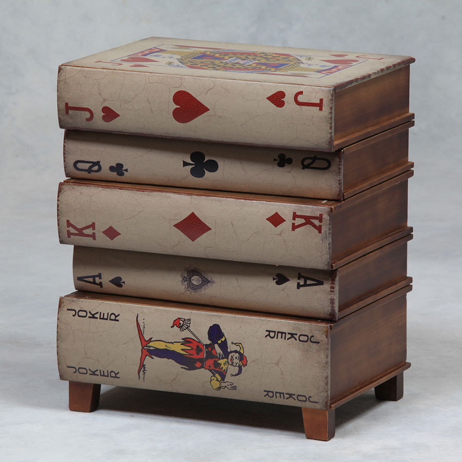 Playing Cards Small Coffee Side Table Bedside Table