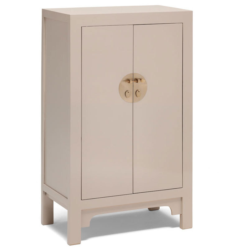 Oriental style cupboard oyster grey bedroom storage for Oriental cupboard