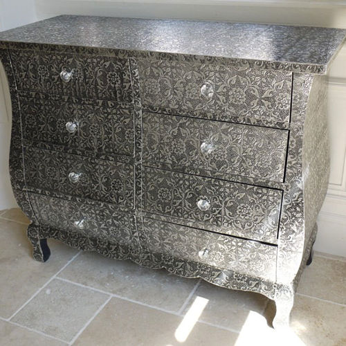 Blackened Chest of 8 Drawers