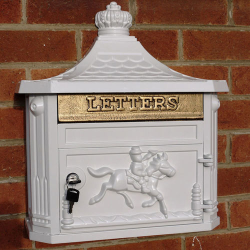 Aluminium Wall Mounted Stylish Post Box White