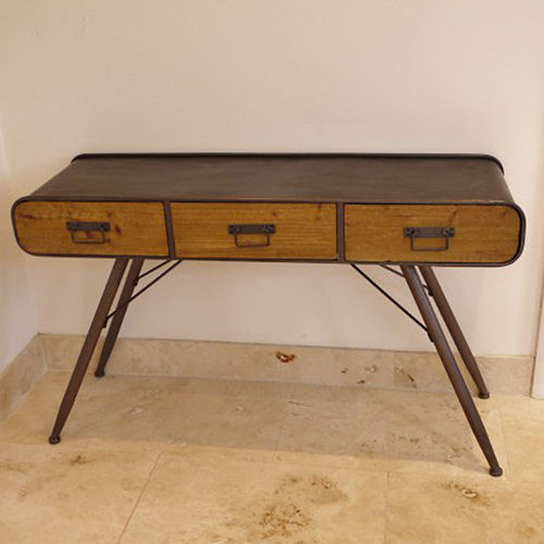 Retro Industrial Style Office Metal And Wood Desk
