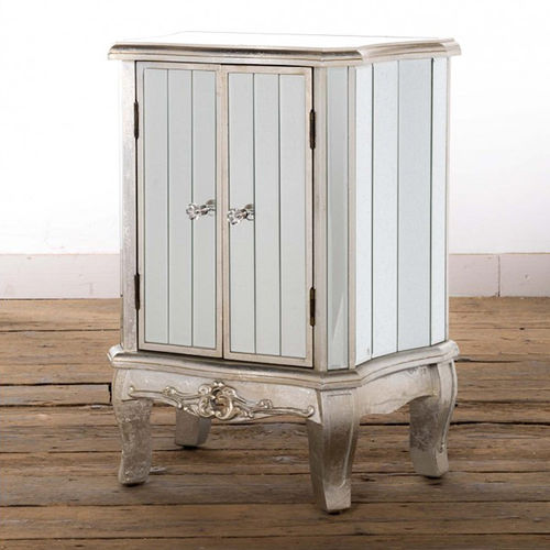 Arabella Two Door Mirrored Bedside Cabinet