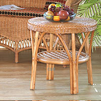 Wicker Loom Style Coffee Table