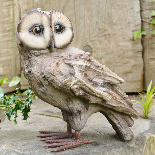 Owl Garden Ornament On Branch
