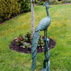 Tall Metal Peacock Garden Statue