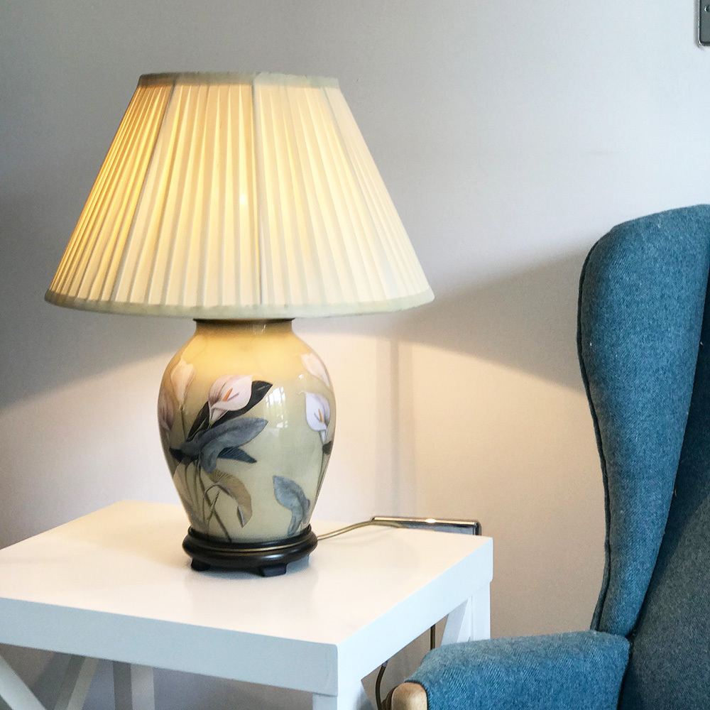 Jenny Worrall Lamps Jenny Worrall Arum Lily Table Lamp Candle And Blue