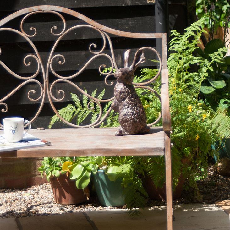 Rabbit Garden Ornament Bronze Garden Rabbit Sculptures