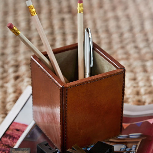 Leather Pen Pot Holder
