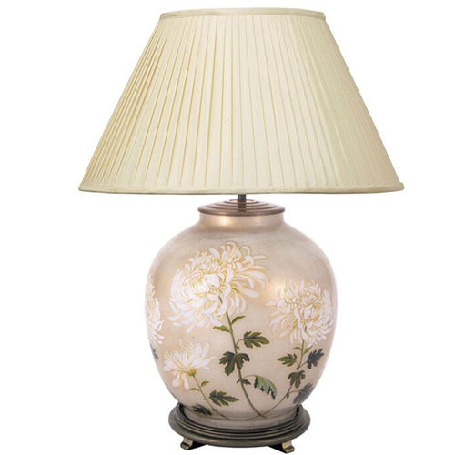 Jenny Worrall Chrysanthemum Large Round Glass Table Lamp Base