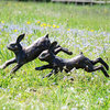 Pair of Running Rabbits Garden Ornament