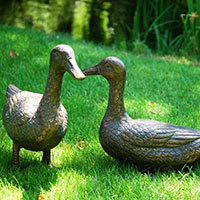 Pair of Ducks Garden Ornament