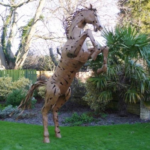 330cm Extra Large Rearing Horse Garden Sculpture