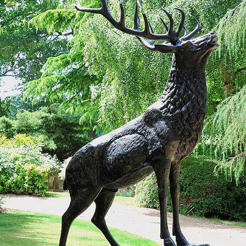Extra Large Stag on Stone Sculpture