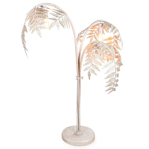 Leaf Table Lamps Tall Living Room, Palm Floor Lamp Silver