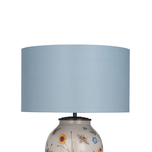 35cm Silk Lined Cylinder Lamp Shade