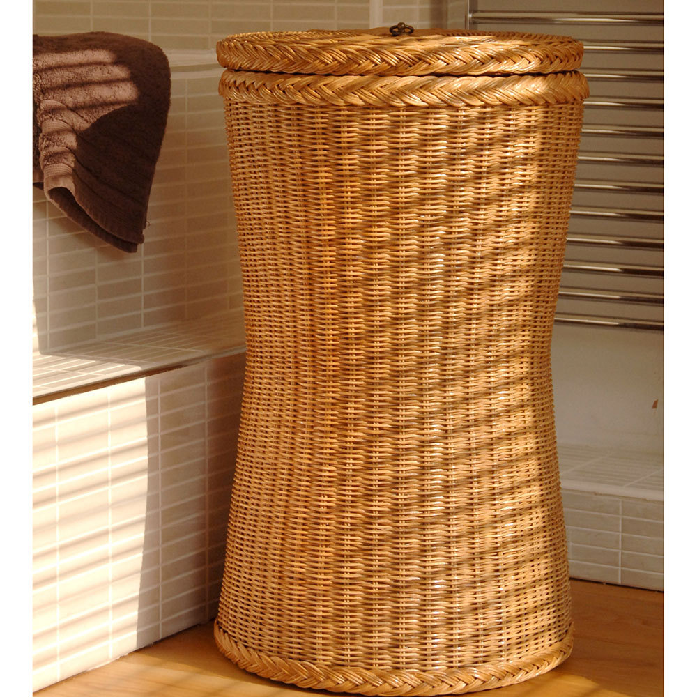 Tall Brown Laundry Basket|Tall Laundry Basket Candle and Blue